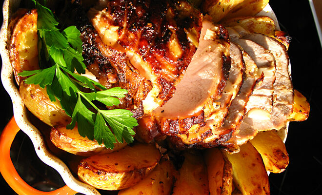 Garlic Roasted Pork Loin Recipe | D'Artagnan