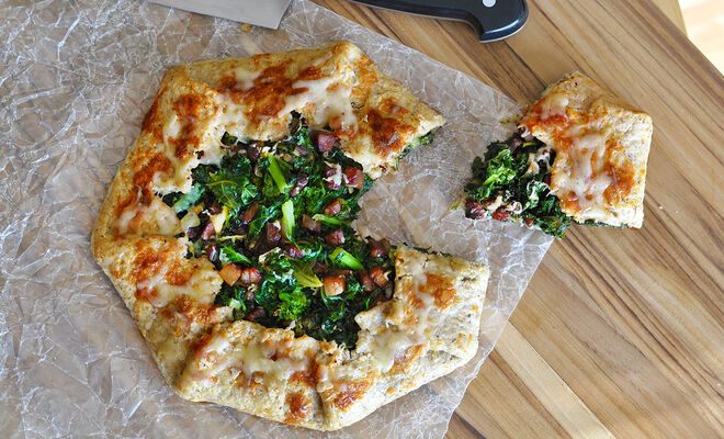 Kale Galette with Pancetta, Shallots, and Truffle Butter Crust Recipe | D'Artagnan