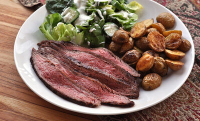 how to cook flank steak sous vide recipe d artagnan. Black Bedroom Furniture Sets. Home Design Ideas