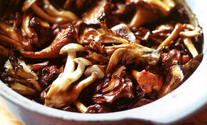 broiled-wild-mushrooms-with-tamari-butter-recipe