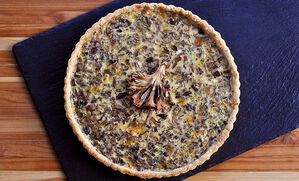 mushroom-cheese-quiche-with-truffle-butter-recipe