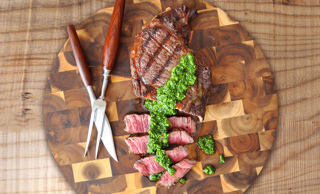 Grilled Ribeye Steak with Chimichurri Recipe | D'Artagnan