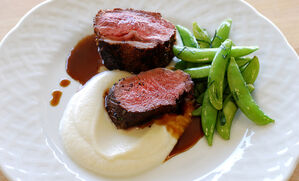 sumac-crusted-lamb-loin-with-cauliflower-puree-recipe