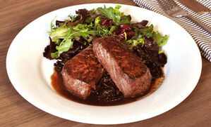 venison-with-wild-mushroom-port-sauce-recipe