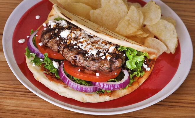 Grilled Greek Style Burger Recipe | D'Artagnan