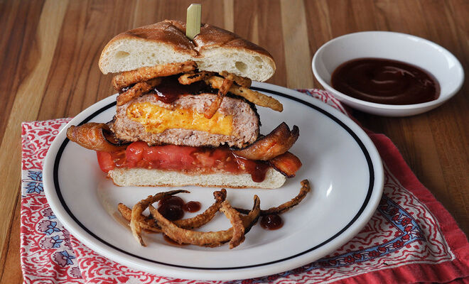 Cheese Stuffed BBQ Turkey Burger Recipe | D'Artagnan