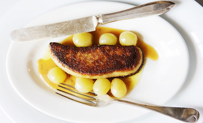 Canal House's Seared Foie Gras with Green Grapes Recipe | D'Artagnan