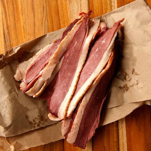 Uncured Smoked Duck Bacon