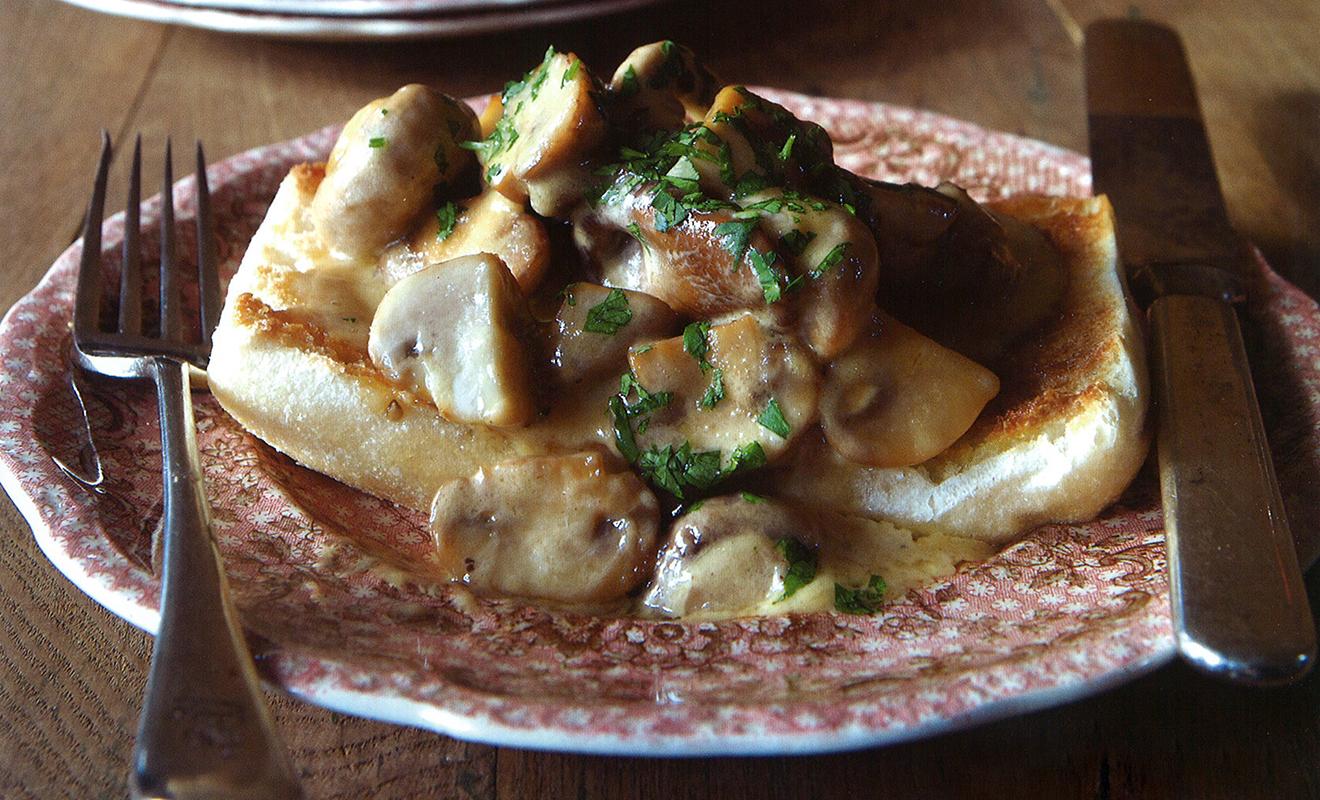 Colman Andrews' Creamed Mushrooms on Toast Recipe | D'Artagnan