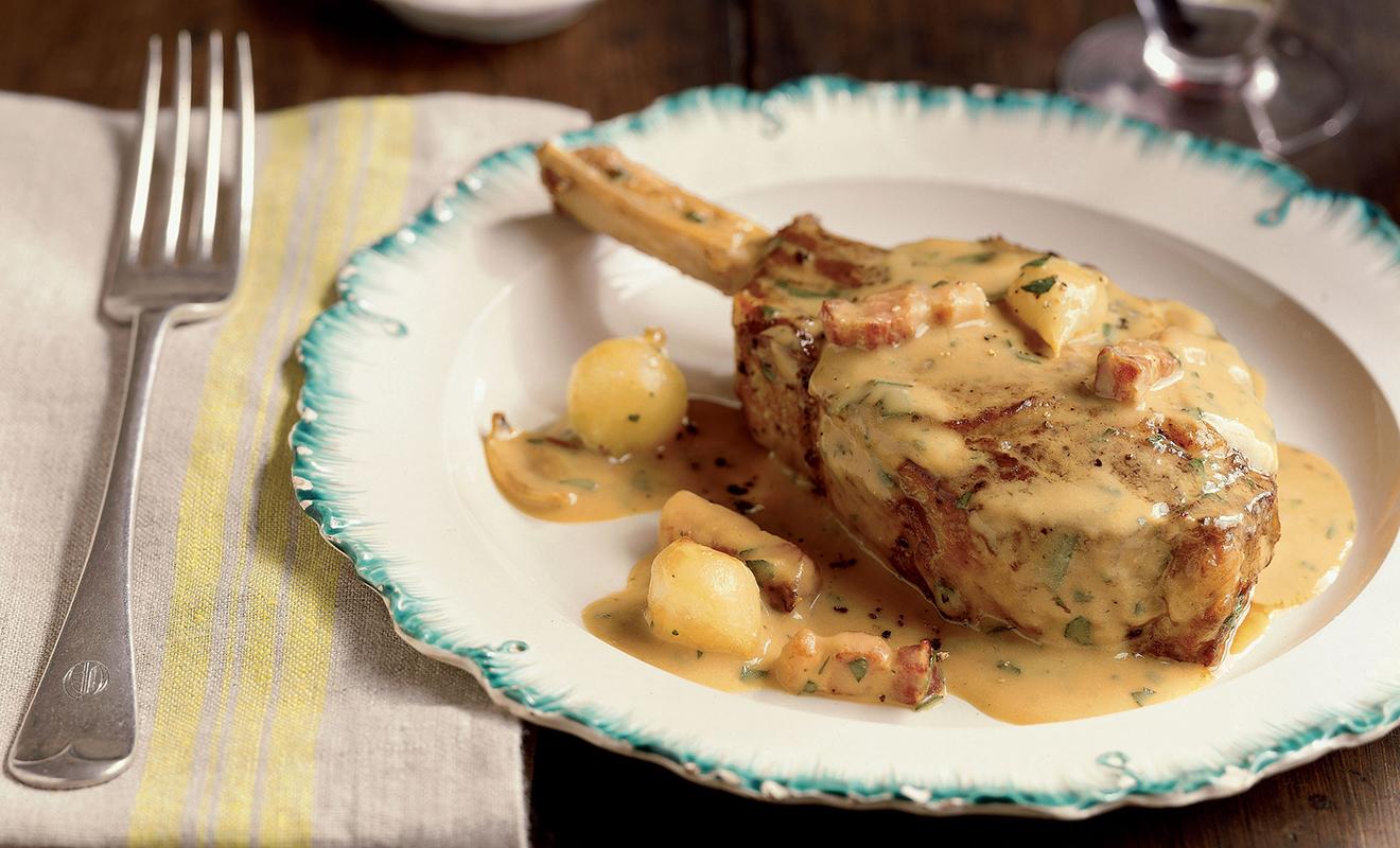 Ann Willan Veal Chops with Mustard Recipe | D'Artagnan