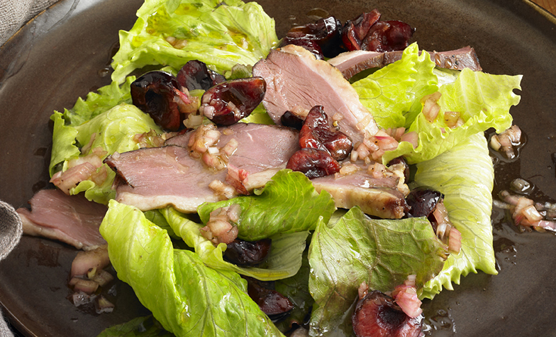 Alison Attenborough Smoked Duck & Cherry Salad Recipe   D'Artagnan