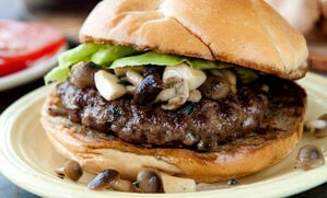 buffalo-burger-with-gourmet-mushroom-recipe