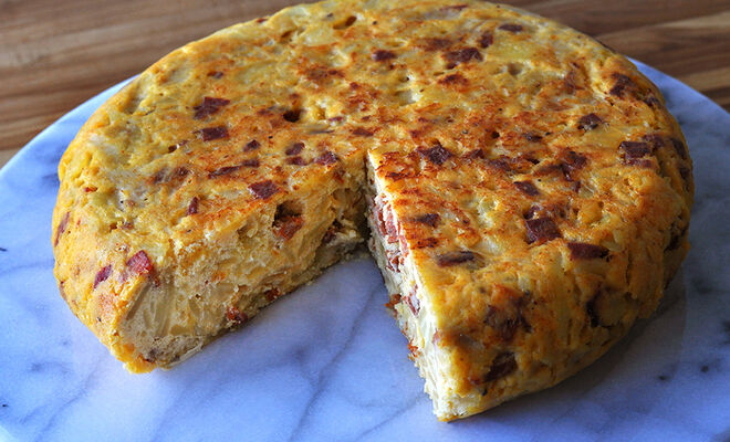 Spanish Omelette with Chorizo Sausage Recipe | D'Artagnan