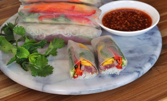 Steak & Mango Fresh Spring Rolls | D'Artagnan