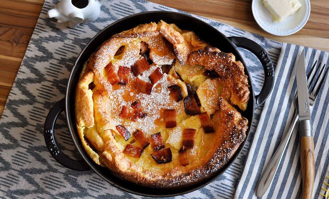 Candied Bacon Dutch Baby Pancake Recipe | D'Artagnan