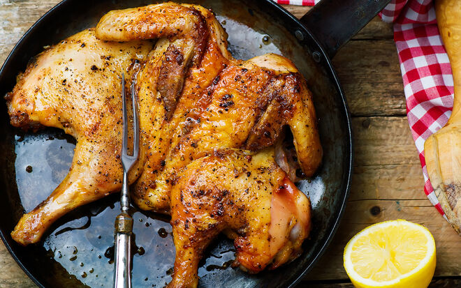 Polla al Mattone Brick Chicken Recipe | D'Artagnan