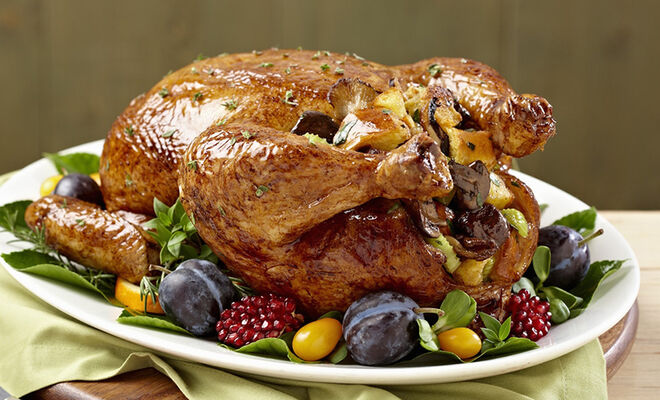 Burgundian Roast Turkey with Chestnuts Recipe | D'Artagnan