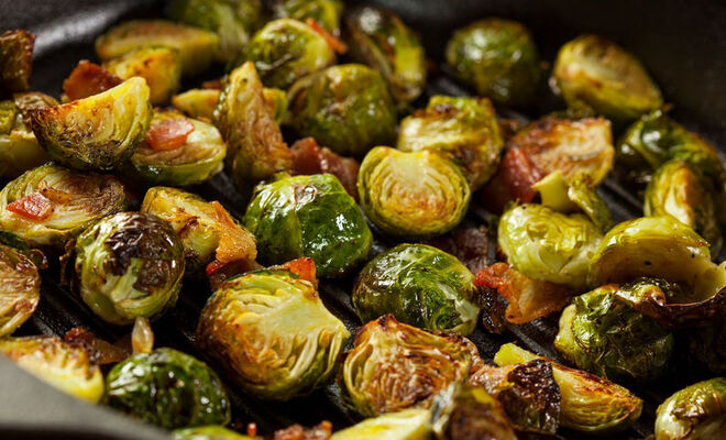 Brussels Sprout Recipe with Hickory Smoked Bacon & Apples