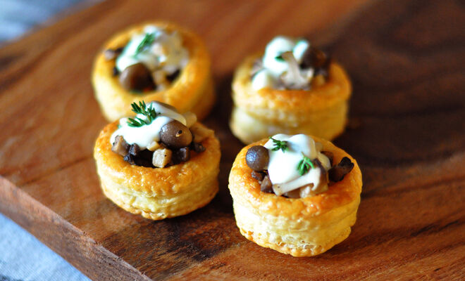 Wild Mushroom Vol Au Vent Appetizers Recipe Dartagnan
