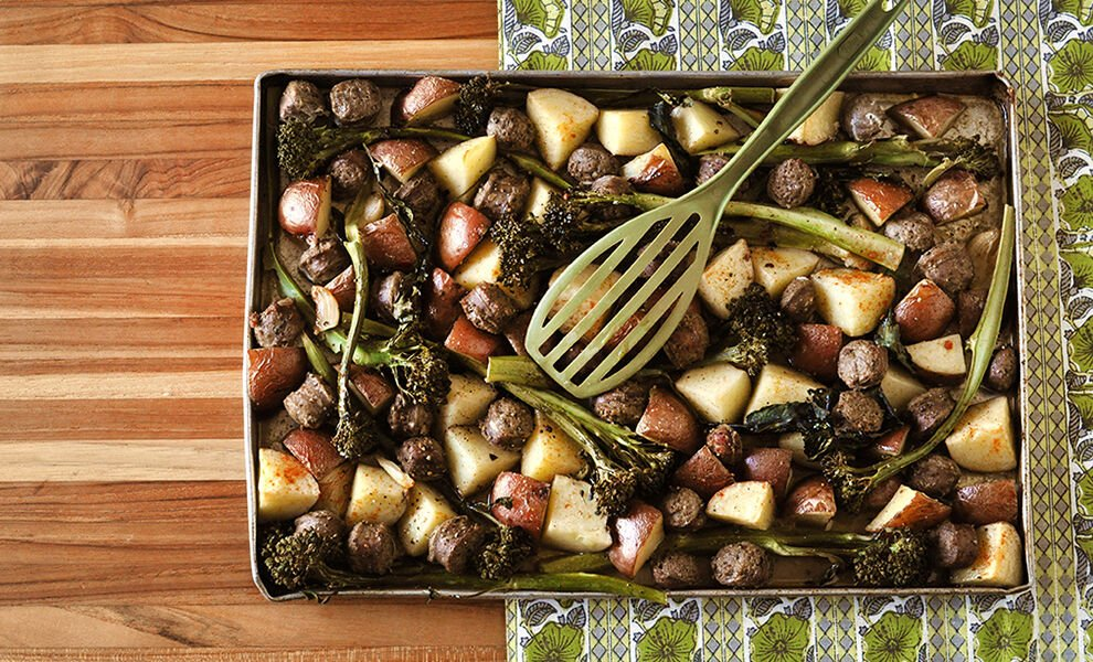sheet-pan-game-sausage-bake-recipe