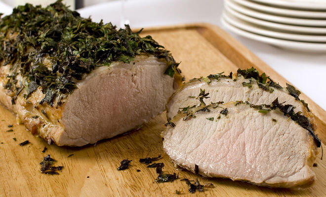 Herb Crusted Pork Loin Recipe | D'Artagnan
