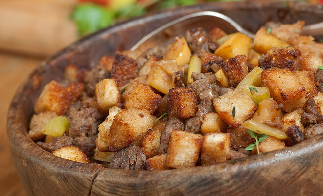 Wild Boar Sausage & Apple Stuffing Recipe | D'Artagnan