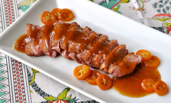Seared Duck Breasts with Citrus-Honey Sauce Recipe | D'Artagnan