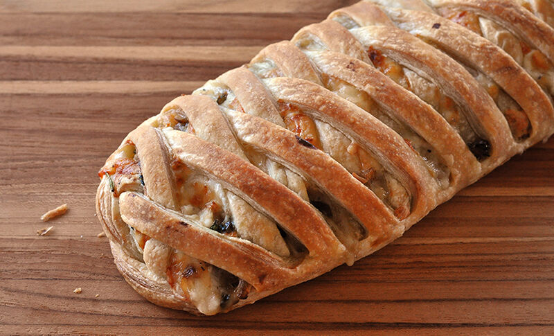 chicken-confit-bread-with-mushrooms-spinach-recipe