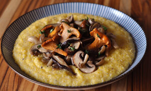 truffle-butter-soft-polenta-with-wild-mushrooms-recipe