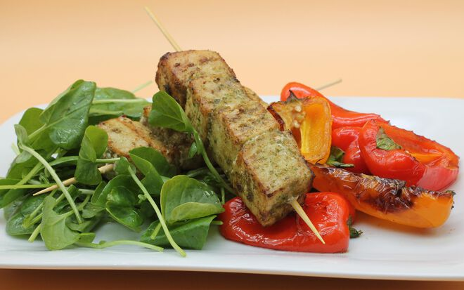 Grilled Swordfish Kebabs with Chermoula