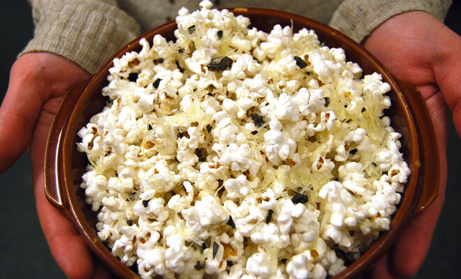 Movie Night Popcorn with Truffle Butter Recipe | D'Artagnan