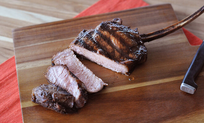 Grilled Veal Chops with Porcini Mushroom Rub Recipe | D'Artagnan