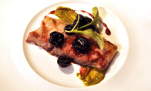 sous-vide-pork-belly-with-cherry-compote-recipe
