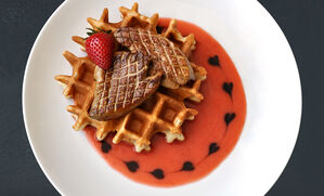 foie-gras-strawberry-waffles-recipe
