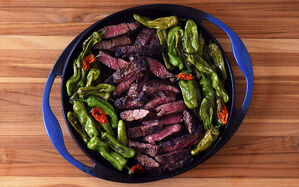 skirt-steak-with-blistered-shishito-peppers-recipe