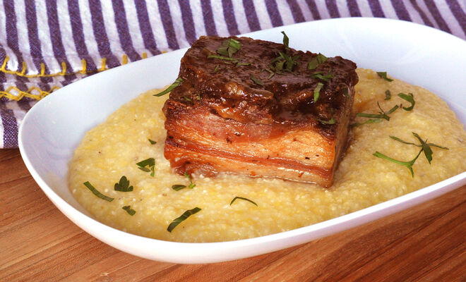 Crispy Braised Lamb Belly Recipe | D'Artagnan