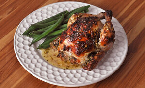 herb-roast-poussin-with-creme-fraiche-recipe