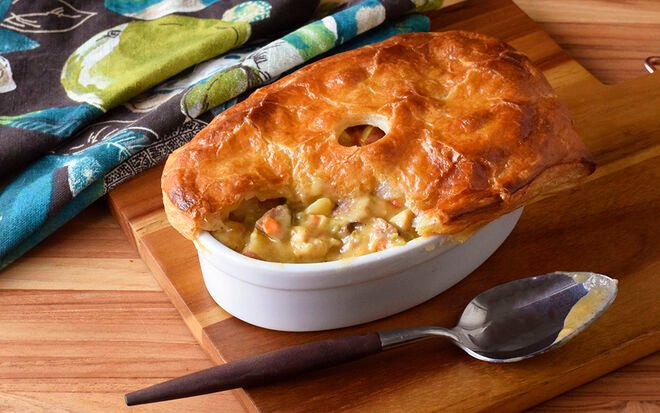 Spicy Chicken & Andouille Pot Pies Recipe | D'Artagnan