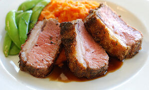 cornmeal-crusted-lamb-loin-recipe