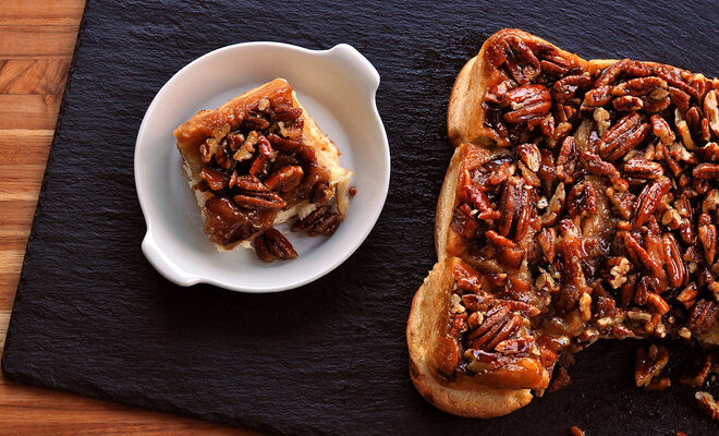 Bacon Pecan Sticky Buns with Maple Caramel | D'Artagnan
