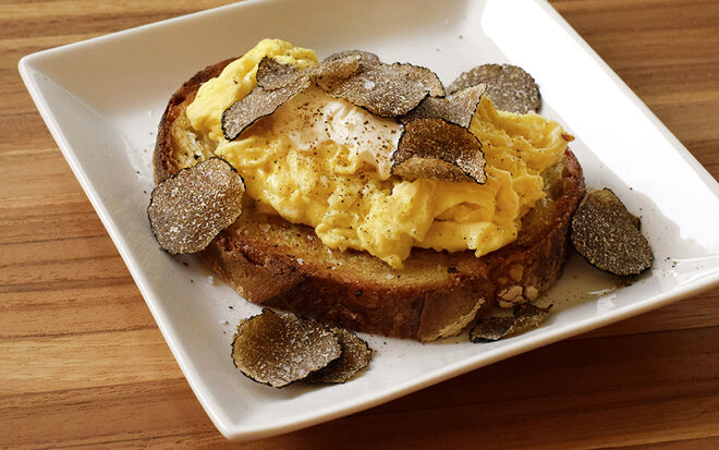 Soft Scrambled Egg with Mascarpone & Truffles Recipe | D'Artagnan