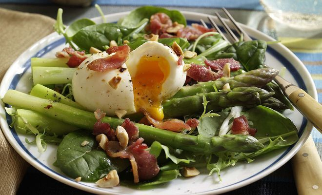 Dorie Greenspan Bacon, Eggs & Asparagus Salad Recipe | D'Artagnan