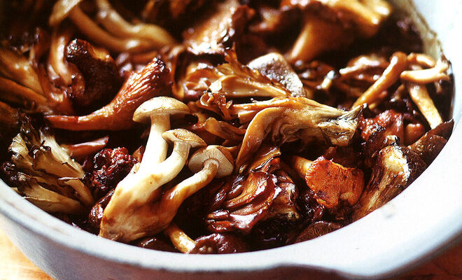 Bruce & Eric Bromberg Broiled Wild Mushrooms with Tamari Butter Recipe | D'Artagnan