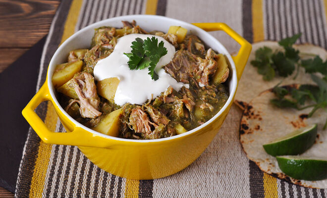Pork Shoulder Chili Verde Recipe | D'Artagnan