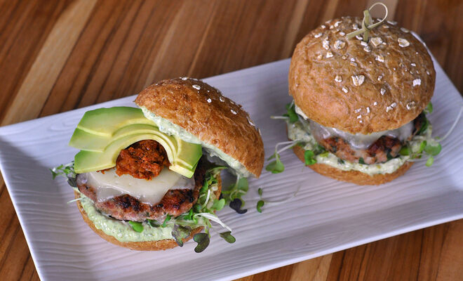 Double Pesto Turkey Burger Recipe | D'Artagnan