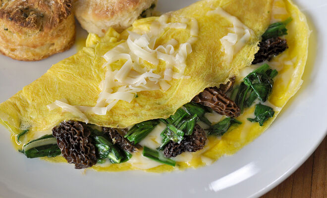 Omelette with Wild Ramps and Morel Mushrooms Recipe | D'Artagnan