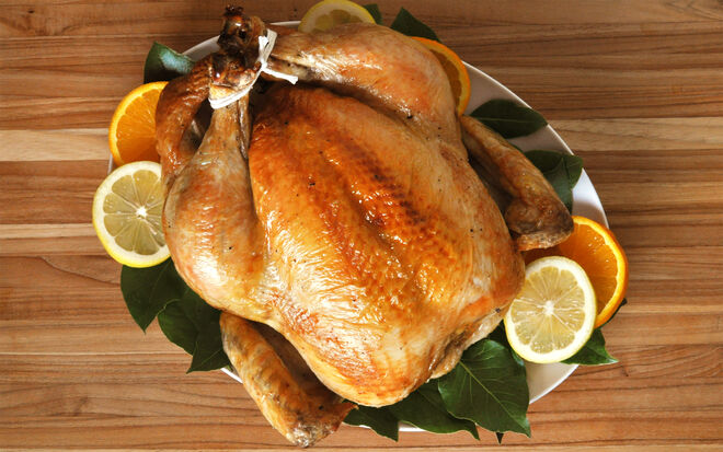 Citrus-Brined Roasted Capon Recipe | D'Artagnan