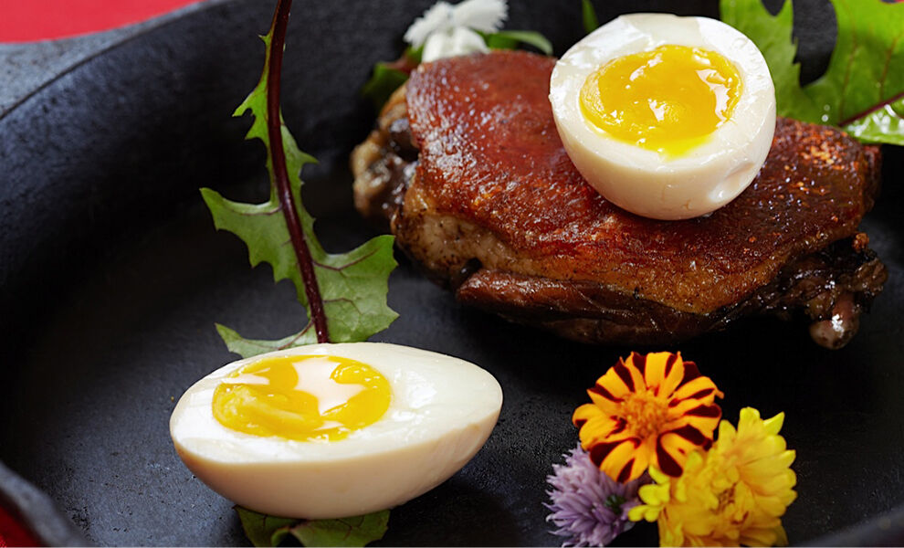 duck-confit-with-soft-boiled-duck-eggs-recipe