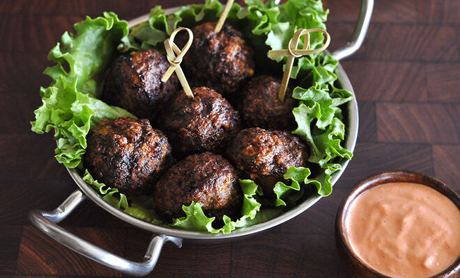 Spiced Lamb Meatballs with Harissa Sauce Recipe | D'Artagnan