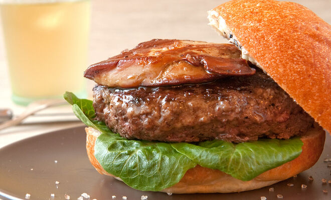 Kobe-Style Burger with Foie Gras & Truffle Butter Recipe | D'Artagnan